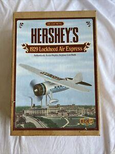 ERTL Hershey's 1929 Lockheed Air Express Airplane Die Cast Metal Coin Bank NIB