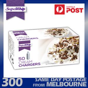 SUPAWHIP CREAM CHARGERS 50 PACK X 6 (300 BULBS) - PURE NITROUS OXIDE N2O