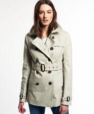 neue Damen Superdry Jacke belle Trenchcoat Stone L