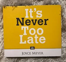 JOYCE MEYER 4 CD SET~IT'S NEVER TOO LATE~AUDIOBOOK