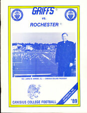 2 LOT CANISIUS COLLEGE NCAA FOTTBALL PROGRAMS BUFFALO STATE ROCHESTER 1989 1990