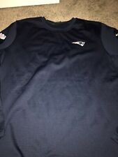 New England Patriots Navy Blue Nike Modern Crew Coach Pullover Sweatshirt XXL