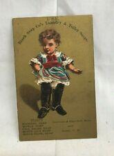 Orig. Victorian Trade Card Beach's Soap Co.  Lawrence & Haverhill MA Dover NH