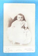 CDV Baby in Gown  Cabinet Card Nobel's Photographers Lincoln, Nebraska