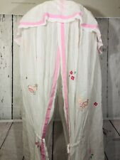 Pottery Barn Kids Canopy with flower and bird appliqué Pink Girls