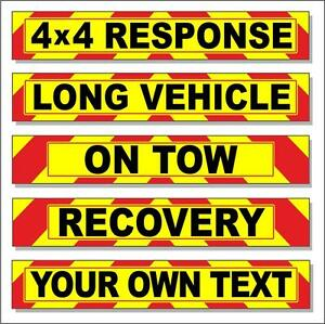 Recovery Wide Load Warning Highway Reflective Sign Chevron Magnetic Quality