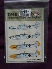 """Rising Decals 1/72 """"1940 Emils"""", Messerschmitt Bf-109 E-1/E-4, 4x Luftwaffe a/c"""