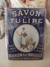 Plaque «savon tulipe» 15*21 cm