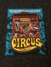 1980 GOTTLIEB FACTORY ORIGINAL CIRCUS PINBALL  PAGE FLYER WITH BONUS
