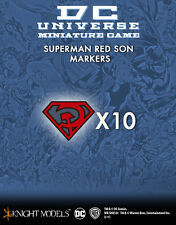 KNIGHT MODELS BATMAN DC SUPERMAN RED SON MARKERS SET NEW