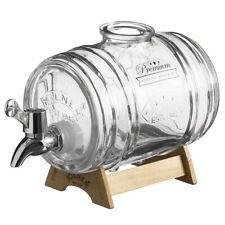 Kilner 1L Glass Barrel Drink Dispenser Beverage/Beer/Water for Event/Party/Bar
