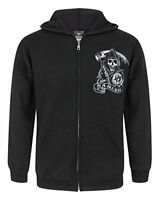 Official Sons Of Anarchy SAMCRO Mens Zip Up Hoodie M