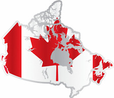 "Canada Country Flag Map Car Bumper Window Mirror Sticker Decal 5""X4"""