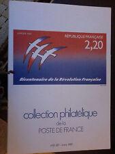 timbres - collection phitalélique de la poste : bicentenaire de la révolution fr