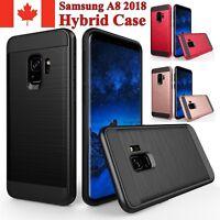 For Samsung Galaxy A8 2018 Case - Hybrid Shockproof Armor Heavy Duty Cover