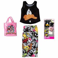 Barbie Doll Clothing Looney Tunes Daffy Duck Blouse Skirt Handbag Purse