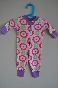 Hanna Andersson Pajamas Striped One Piece Long Sleeve Size 0-6 Months/50cm