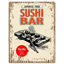 PP0573 Japanese Food Plate Sign Store Shop Cafe Home Kitchen Sushi Bar Decor