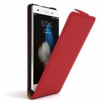 Tasche für Huawei P8 Lite (2015) Flip Case Schutz Hülle Cover Etui Rot