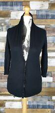 Ermanno Scervino Ladies Black Cardigan Silk Scarf Detail Made In Italy S / M