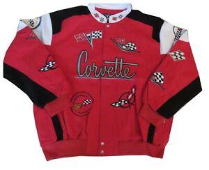 General Motors Mens Corvette Style Red/BLK Jacket