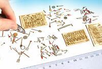 Miniature Tools Mega set HO 1:87 1:72 scale model kit railway diorama dollhouse