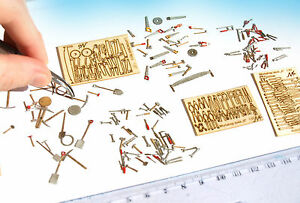 Miniature Tools set HO 1:87 1:72 scale diorama dollhouse railway model wargame