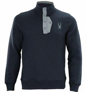 Spyder Men's Quilted Pullover Fleece Sweater,