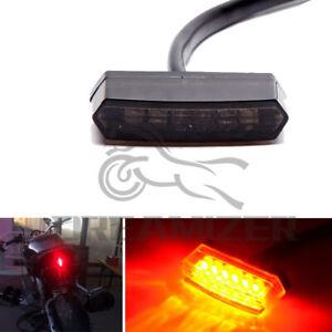 LED Rücklicht E-geprüft Schwar getönt mit Kennzeichenbeleuchtung Motorrad Quad