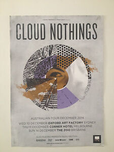 CLOUD NOTHINGS 2014 Australian Tour Poster A2 Here & Nowhere Else Attack On *NEW