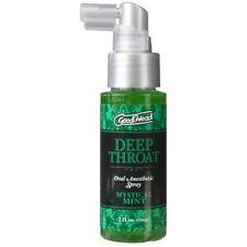 Doc Johnson Goodhead Deep Throat Oral Sex Numbing Spray Mystical Mint 2 oz