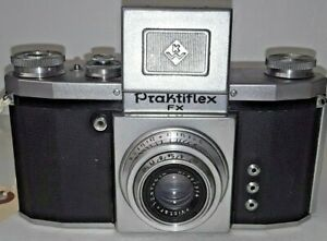 1953 Praktiflex FX WAIST LEVEL FINDER 35MM SLR Film Camera 50mm f:2.9 Lens 1:2.9