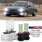For Cadillac DTS 2006-2011 - D1S Xenon HID Headlight + 9145 LED Fog Light Bulbs