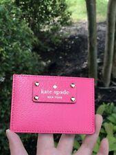 NWT Kate Spade Card Case Graham Wellesley WLRU1147 Caberetpnk(688)