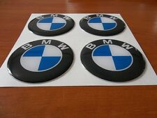 4pcs BMW 64 mm 65 mm 3D Wheel center caps Emblem Sticker Decal Badge Silicone