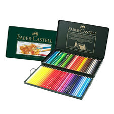 Faber Castell Polychromos Color Pencils Metal tin Set of 72 Artists + Free Gift