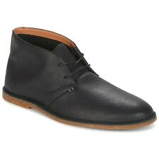 New Clarks Mens Baltimore mid Black Leather Chukka Boots Size UK 9/43 G