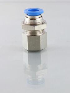 6mm x 1/8 Bsp Bulkhead Push in Fitting                                     b138B