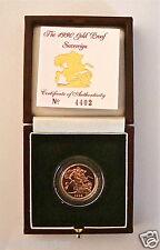 1990 Regina Elisabetta II ORO FULL CON PROVA REALE CON BOX E COA