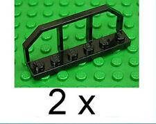 LEGO - 2 x Zug / Eisenbahn / Waggon Geländer schwarz 1x6 / 6583 NEUWARE (e14)