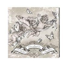 toile sur chassis ange angelot chérubin ballet des papillons Mathilde M