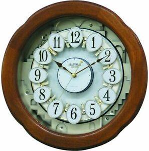 Musical Motion Wall Clock by Rhythm 4MH868WD06 'ANGEL BLOSSOM II'