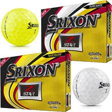 Srixon Z Star Golf Balls - New 2019 Pure White or Tour Yellow - 2, 4, or 6 Dozen