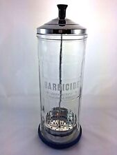 Barbicide Disinfectant Glass Jar Barber Salon Chrome King Research Inc.