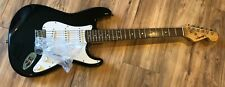 100% ORIG. NOS LEGACY BLACK STRAT STYLE SOLID BODY ELECTRIC GUITAR