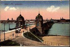 Mainz Rheinland-Pfalz AK ~1910 Theodor Heuss Brücke Straßenbrücke Bauwerk Rhein