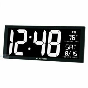 Acurite Large LED Digital Calendar Wall/TableTop Clock + Indoor Temperature