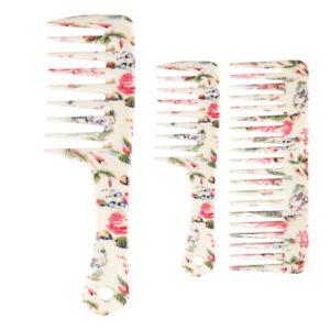 3x Anti-static Large Teeth Detangling Comb Dry Hair Conditioning Combs Detangler