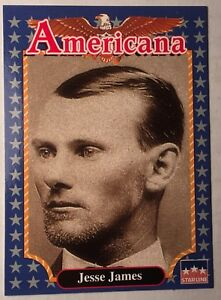 FUN EDUCATIONAL FACTS 1992 Americana Mint Cond. Trading Card JESSE JAMES #133