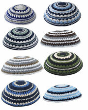 Knitted Set of 8 Yamaka Kipot Shabbat Yarmulke Kippah Jewish Cheap LOT 8 ISRAEL